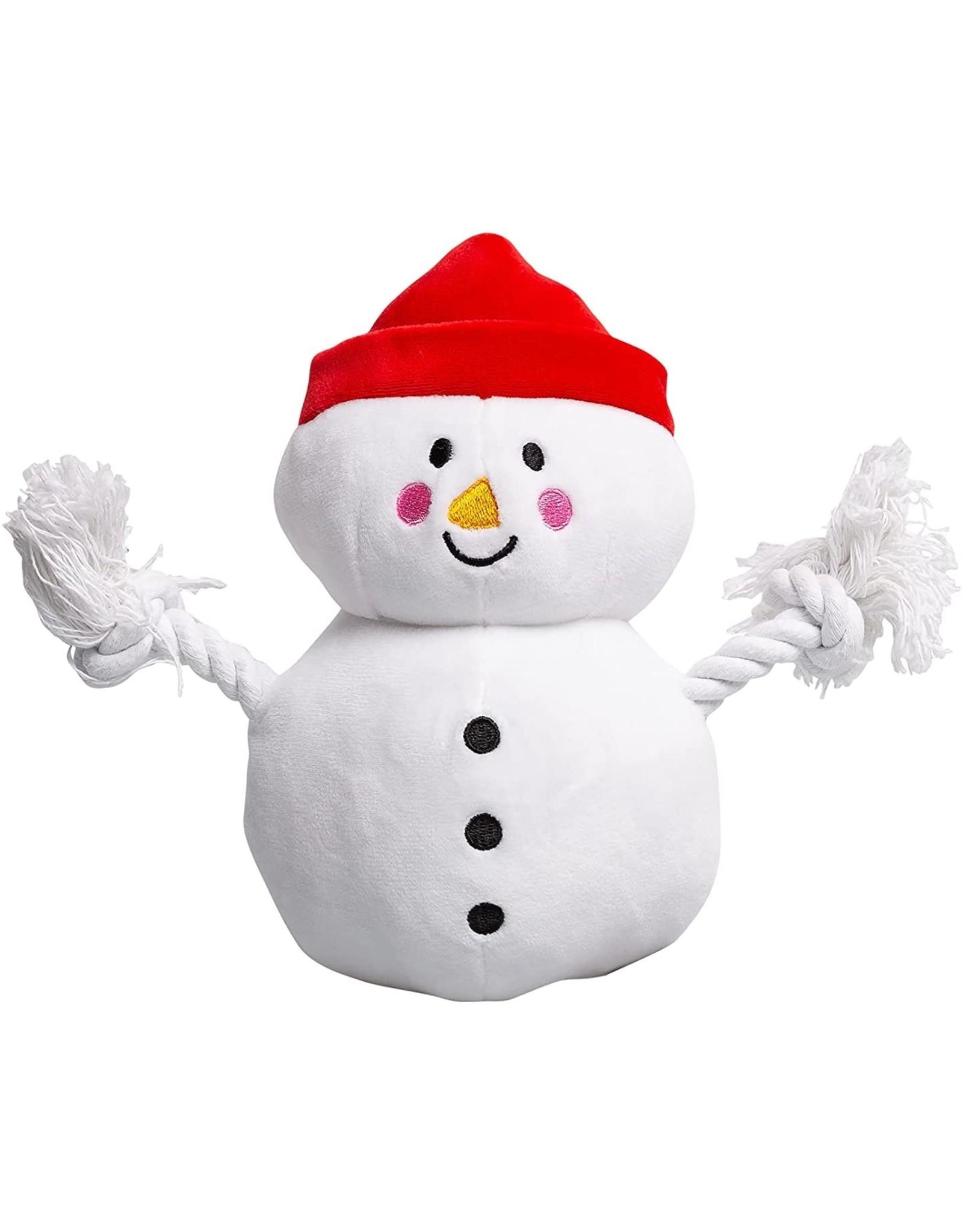 Pearhead Snowman Plush Rope Dog Toy