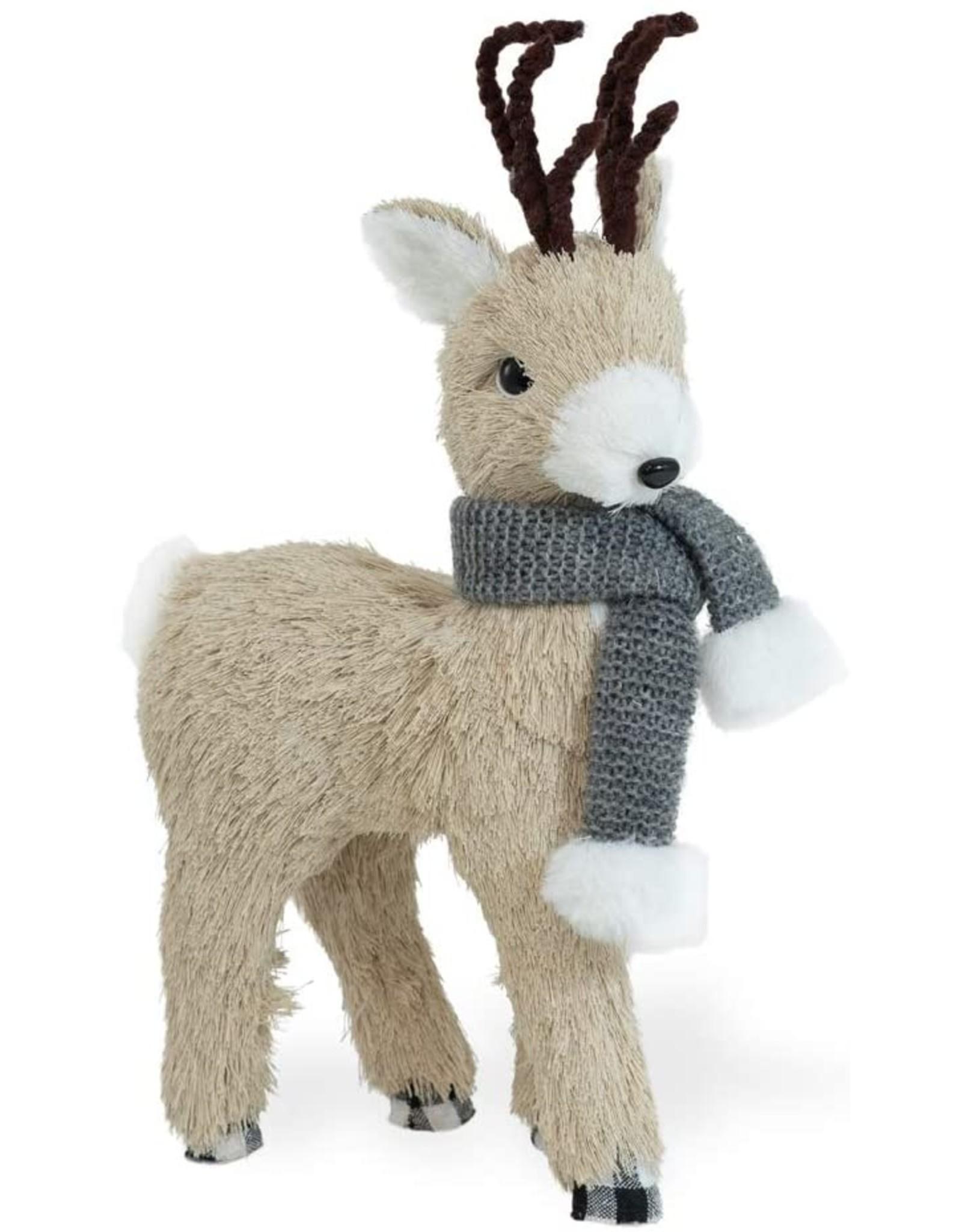 Dandy Grey Scarf Standing Deer