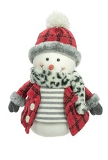 Red Smiling Snowman