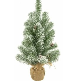Green Standing Frosted Table Tree