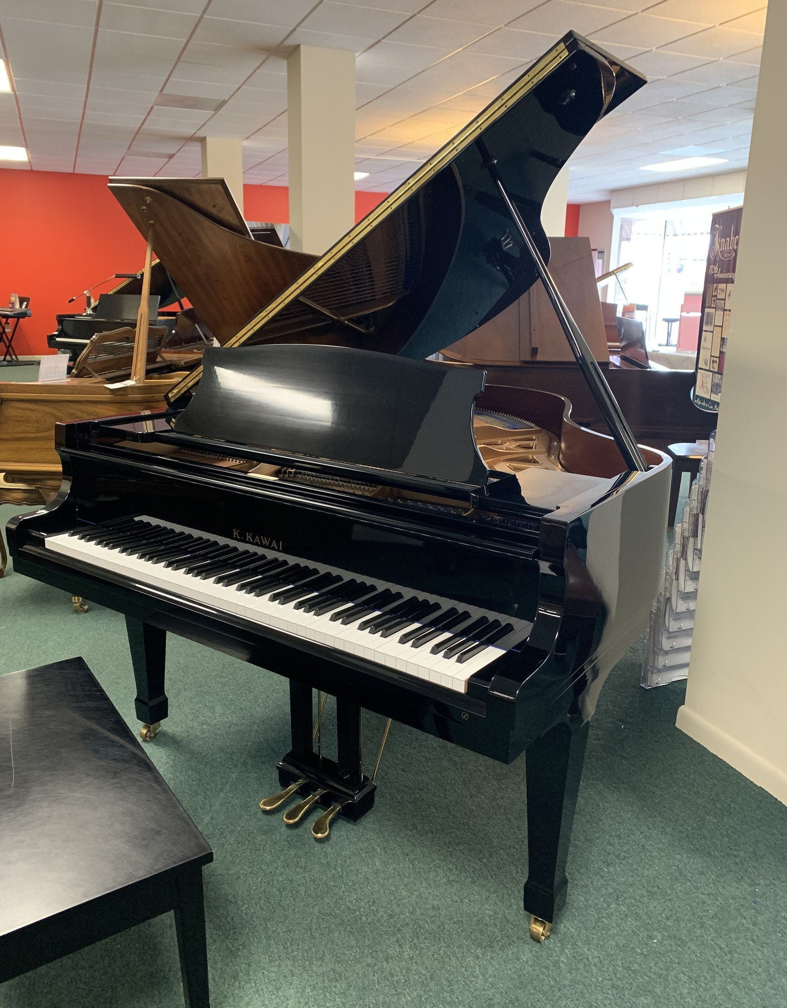 Kawai K. Kawai KG-2D 5'10 Grand Piano (High Polish Black)(Pre-Owned)