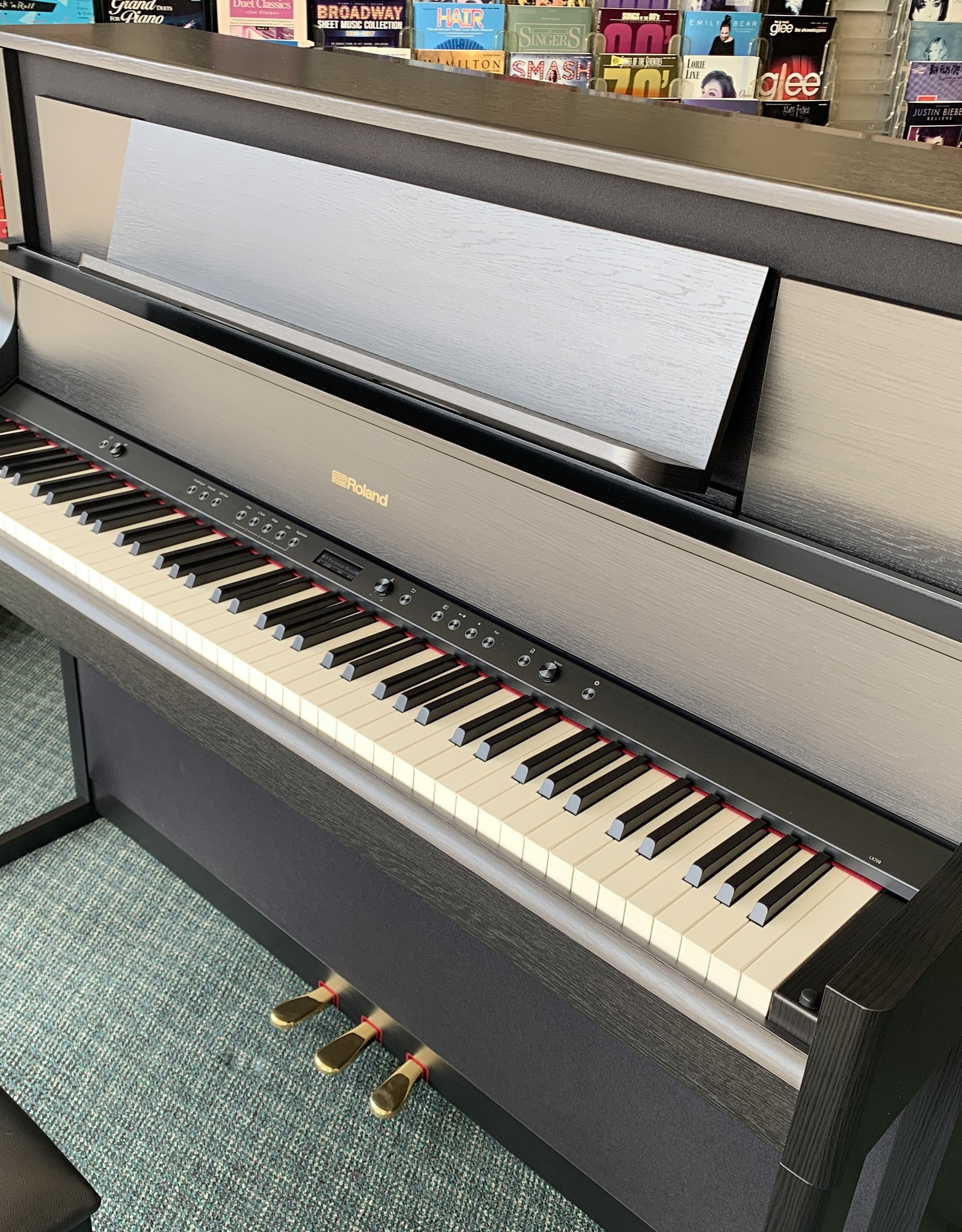 Roland Roland LX-708 Digital Upright Piano (Satin Black Oak)