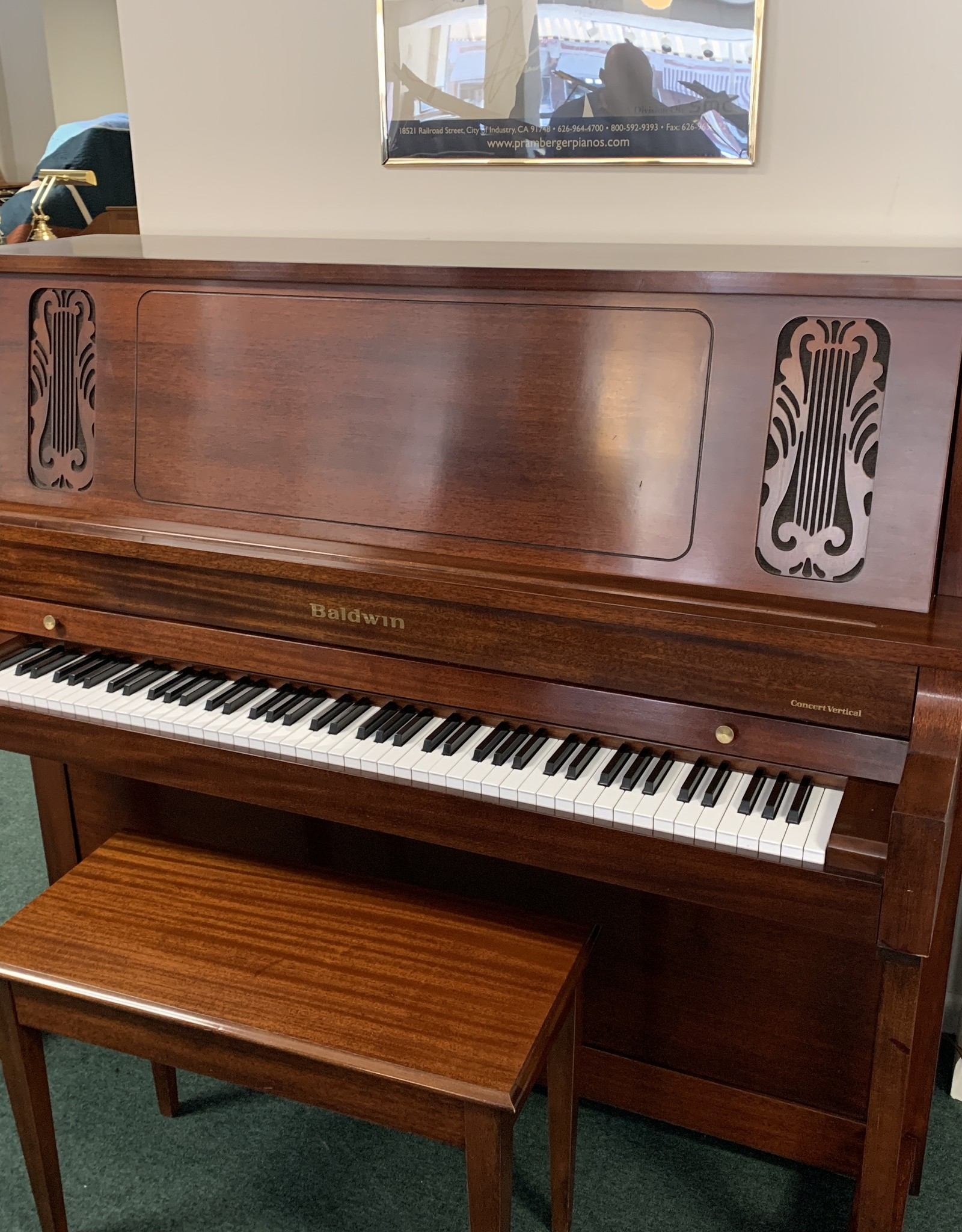 "Baldwin Baldwin 6000 52"" Concert Vertical Piano (Mahogany) (pre-owned)"