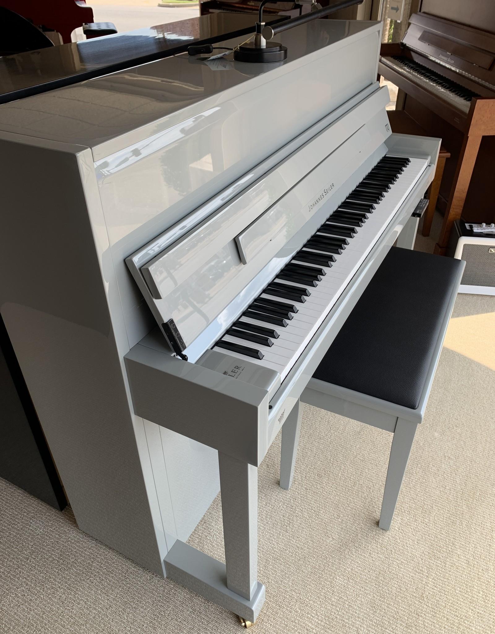 Johannes Seiler Johannes Seiler GS-112BDR Console Piano w/Dream Silent System (High Polish Grey)