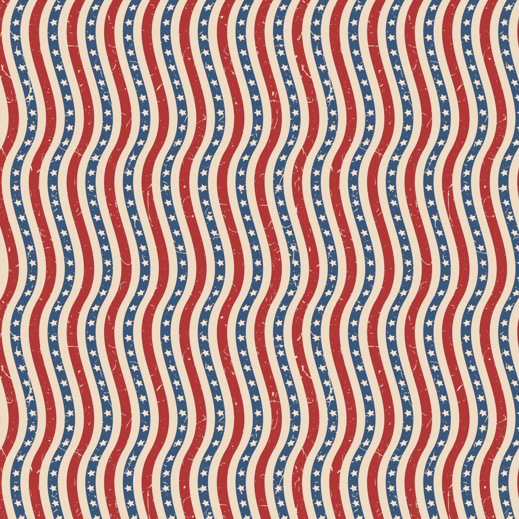 TVD Retro Wavy Stars & Stripes