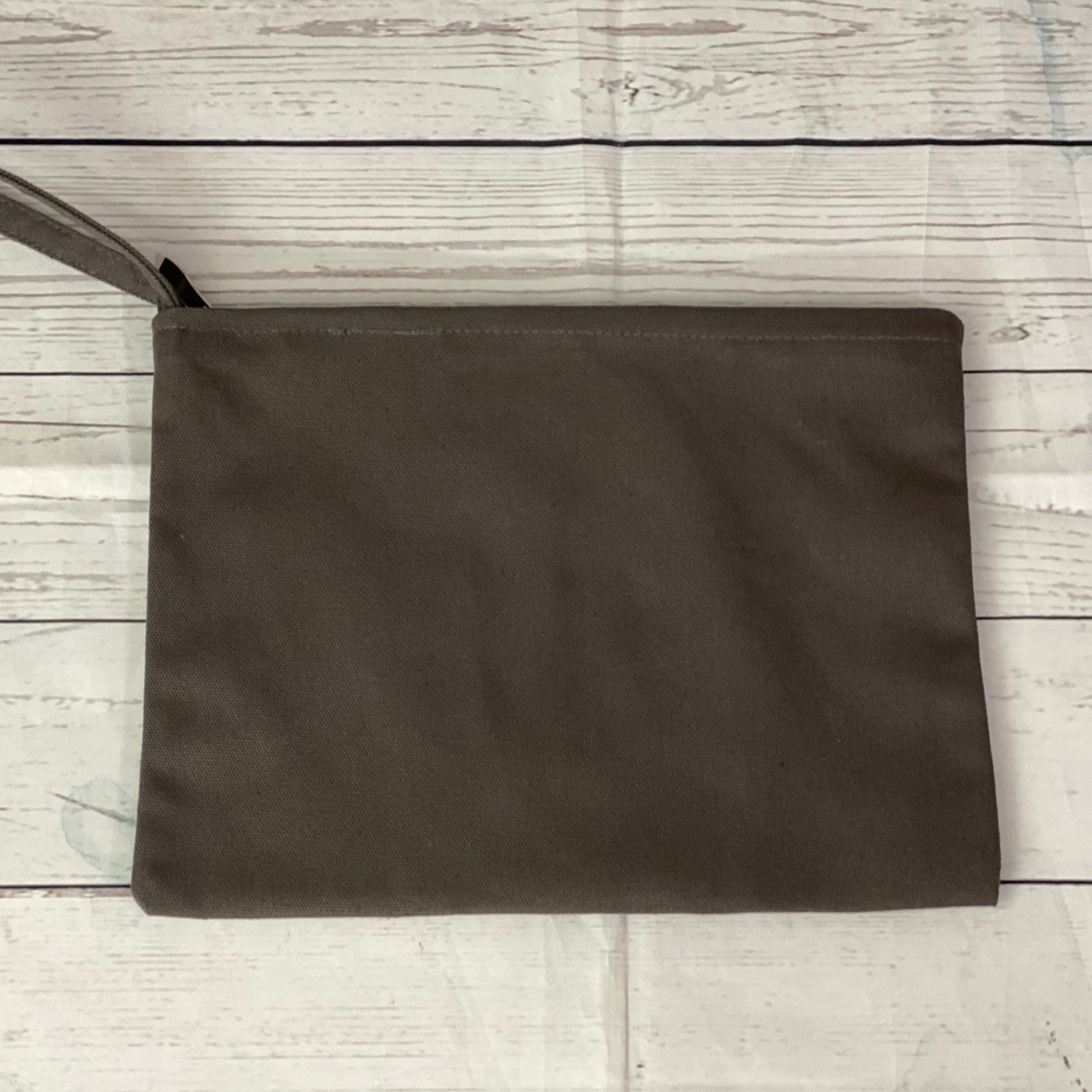Canvas Makeup Pouch with Wristlet