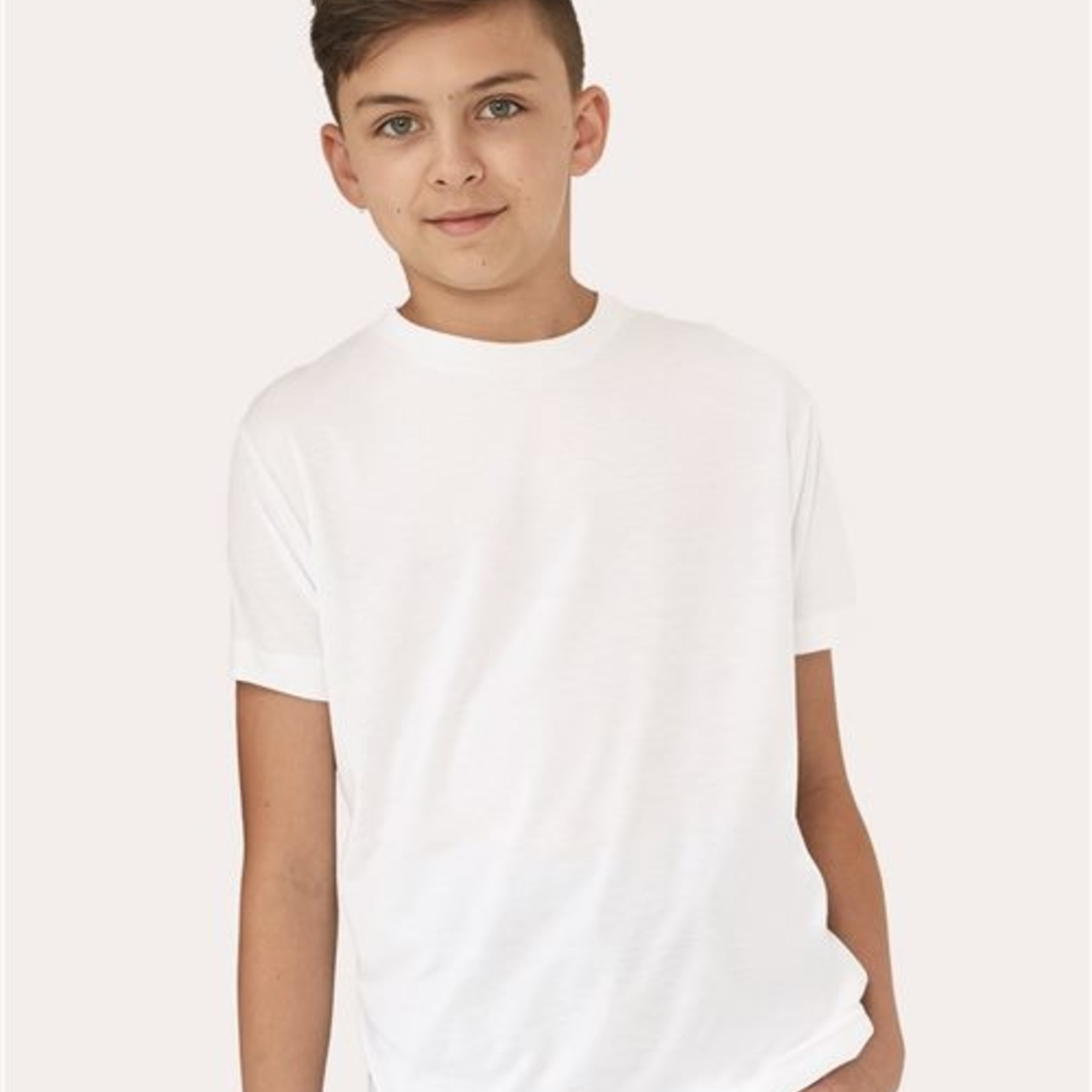 Youth White Sublimation Tee