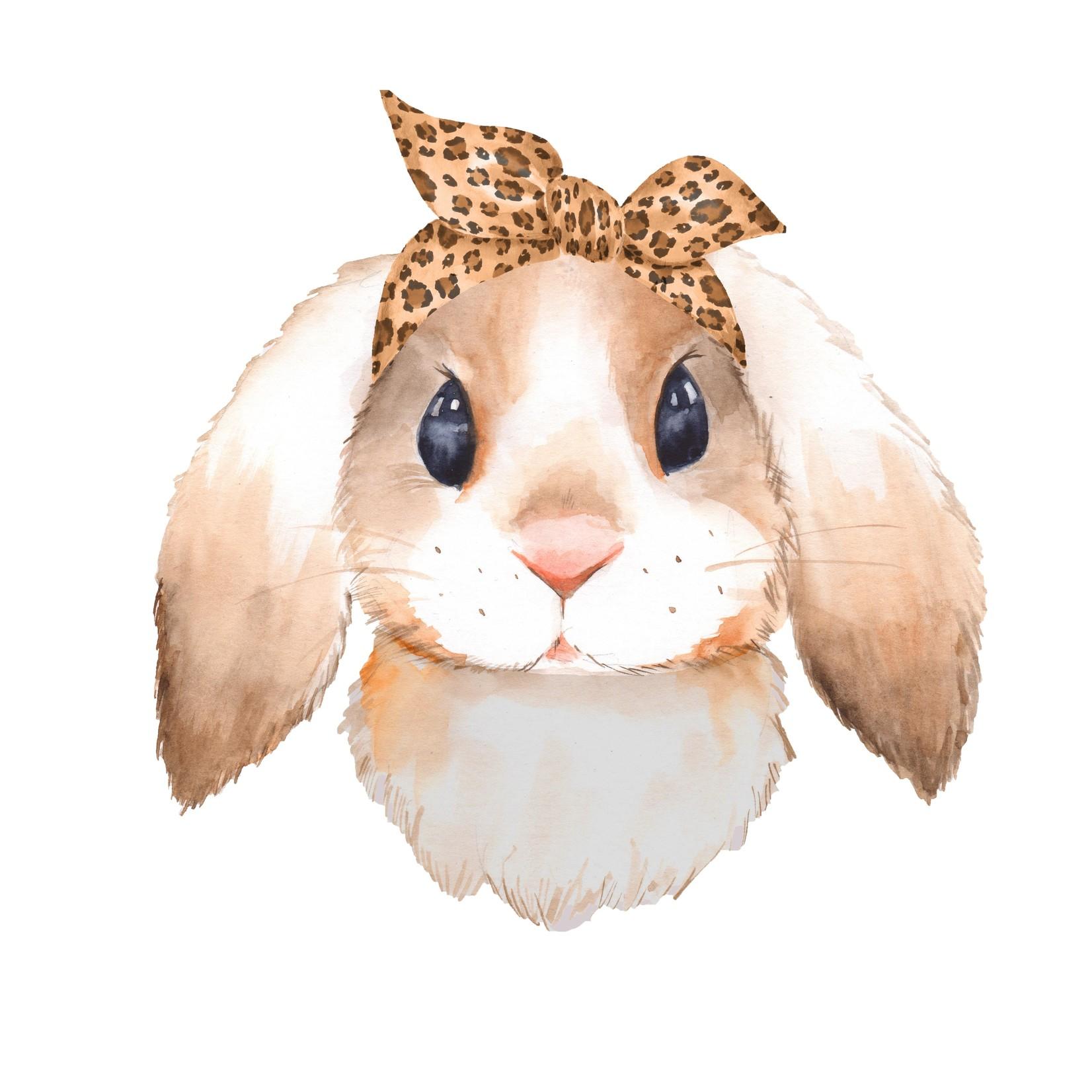 TVD Bunny Leopard Bow