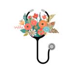 TVD Floral Stethoscopes Transfer
