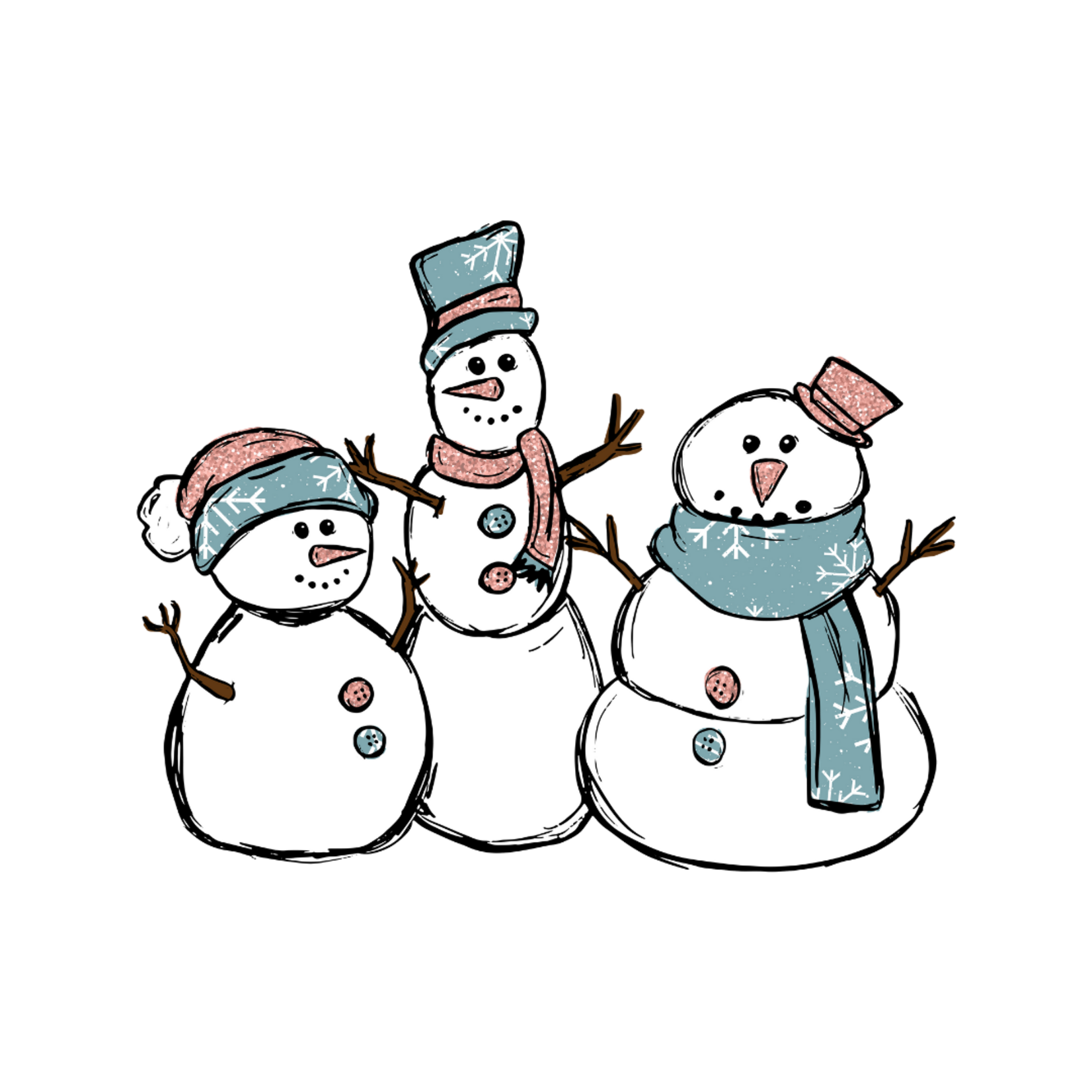 TVD Snowmen Trio Transfer