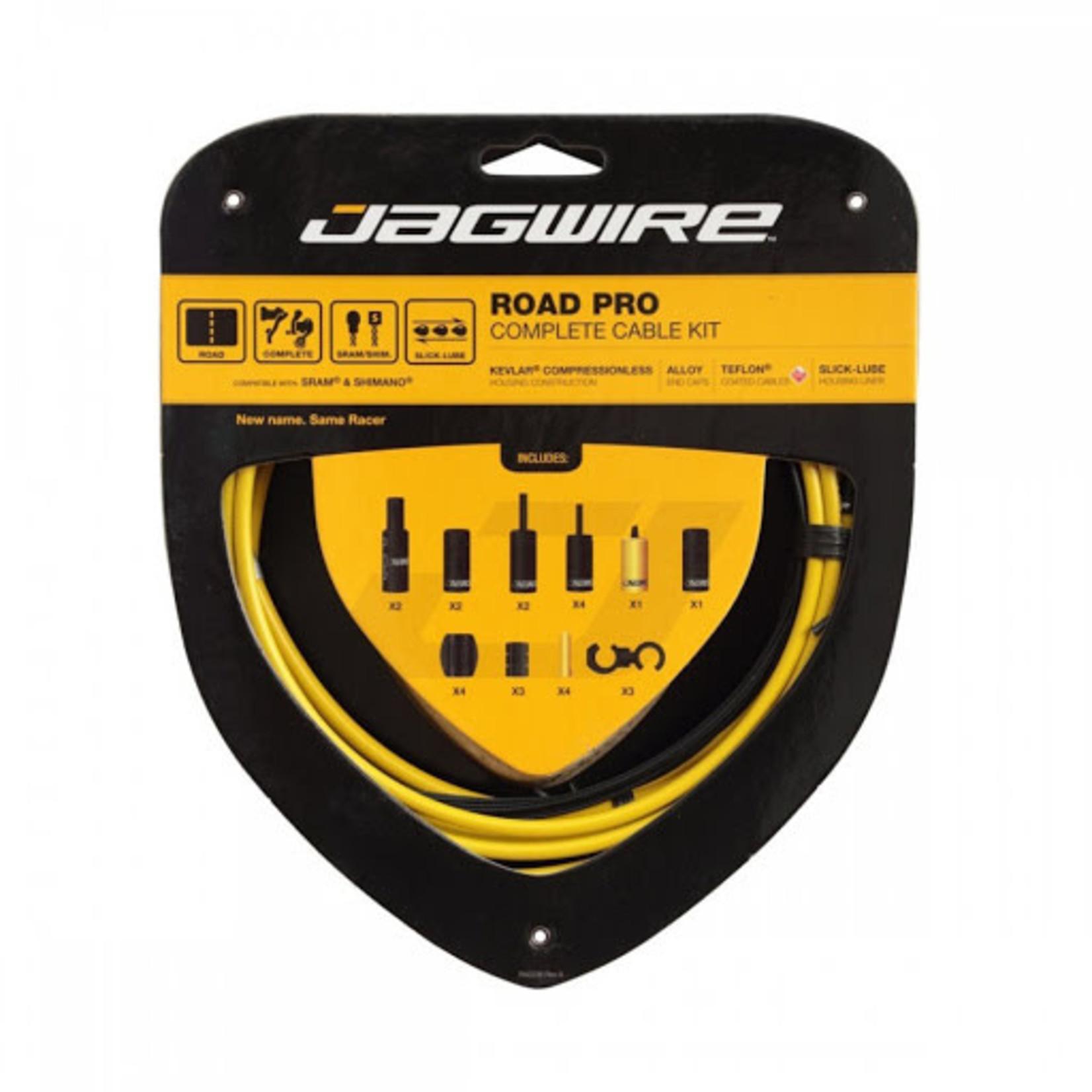 Jagwire Jagwire Racer Complete Road Brake & Derailleur DIY Kit Yellow