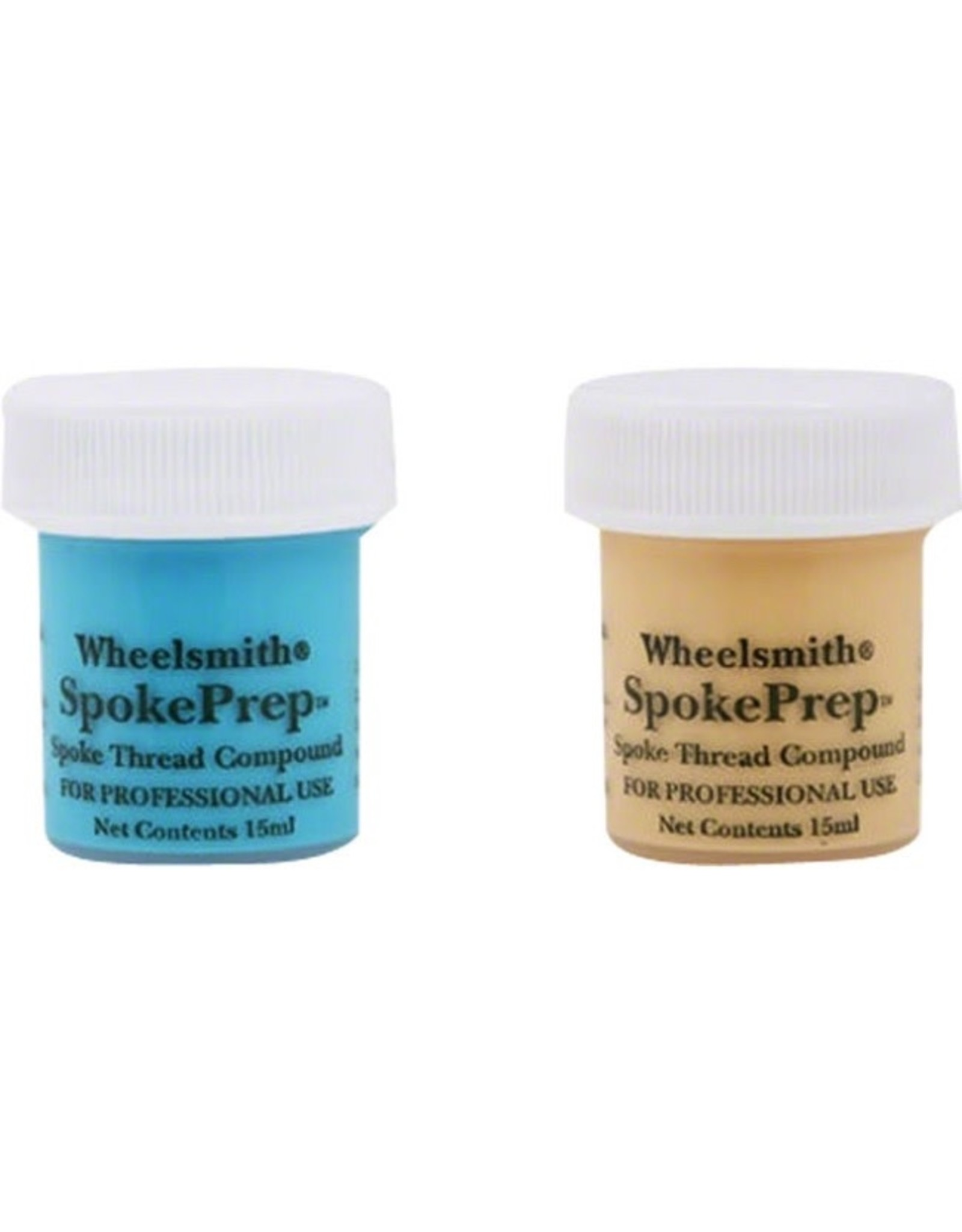 Wheelsmith Wheelsmith Double Spoke Prep, Two 15mI Bottles, One Each of Orange and Blue