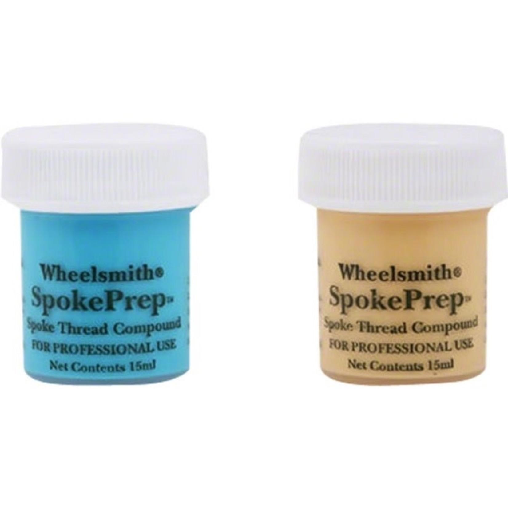 Wheelsmith Wheelsmith Double Spoke Prep, Two 15mI Bottles, One Each of Orange and Blue