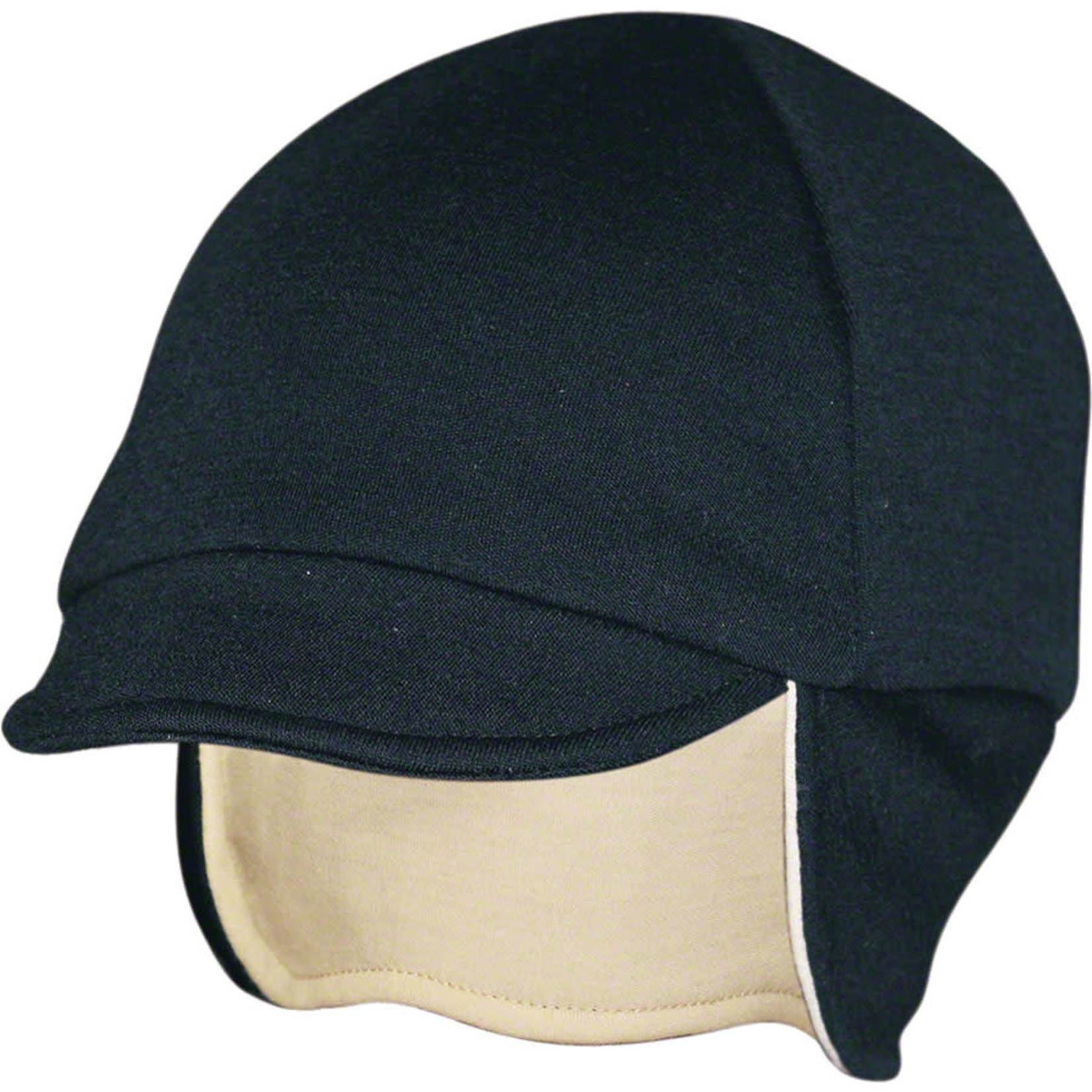 Pace Sportswear Pace Sportswear Reversable Merino Wool Cap: Eggshell/Black