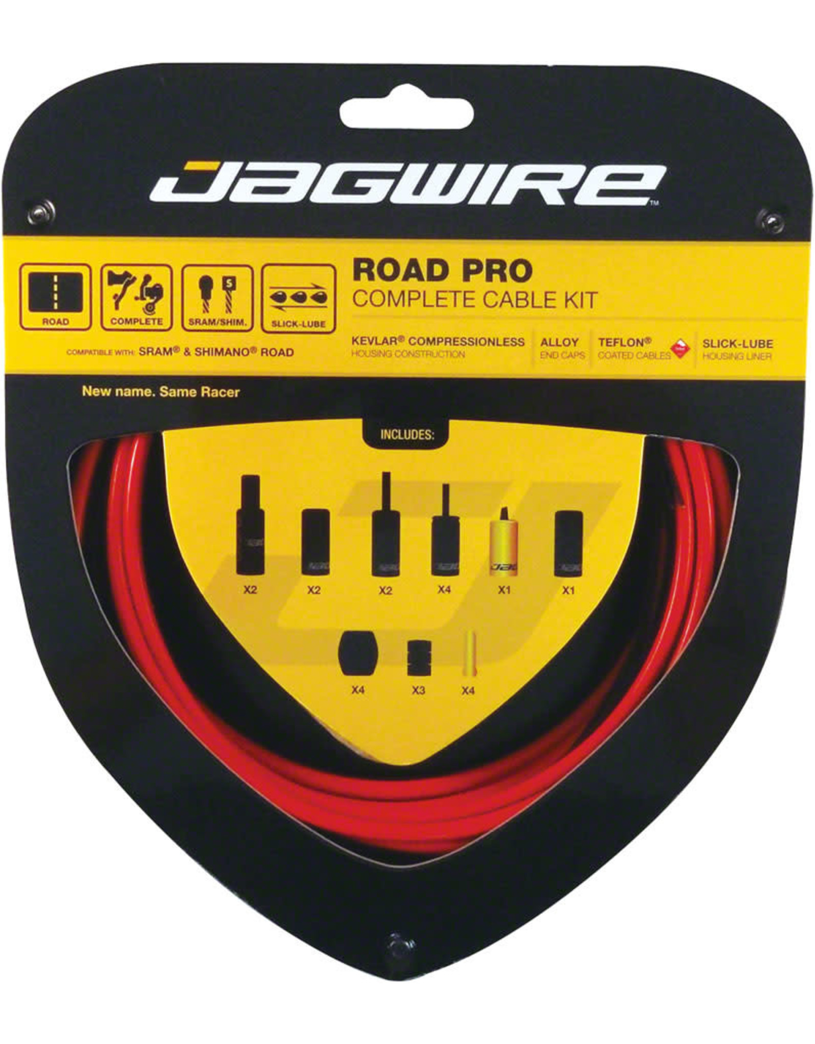 Jagwire Jagwire Racer Complete RoadDIY Kit Red