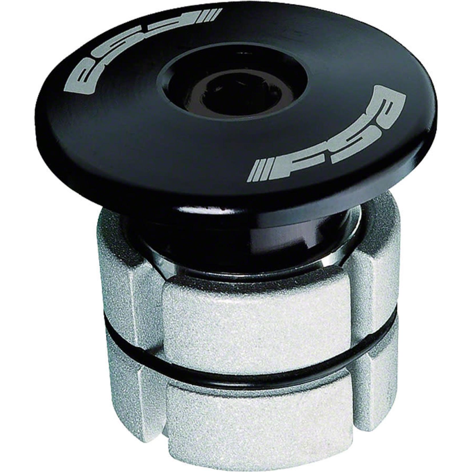 """FSA (Full Speed Ahead) FSA Compressor 1-1/8"""" Black Expander Plug and Top Cap"""