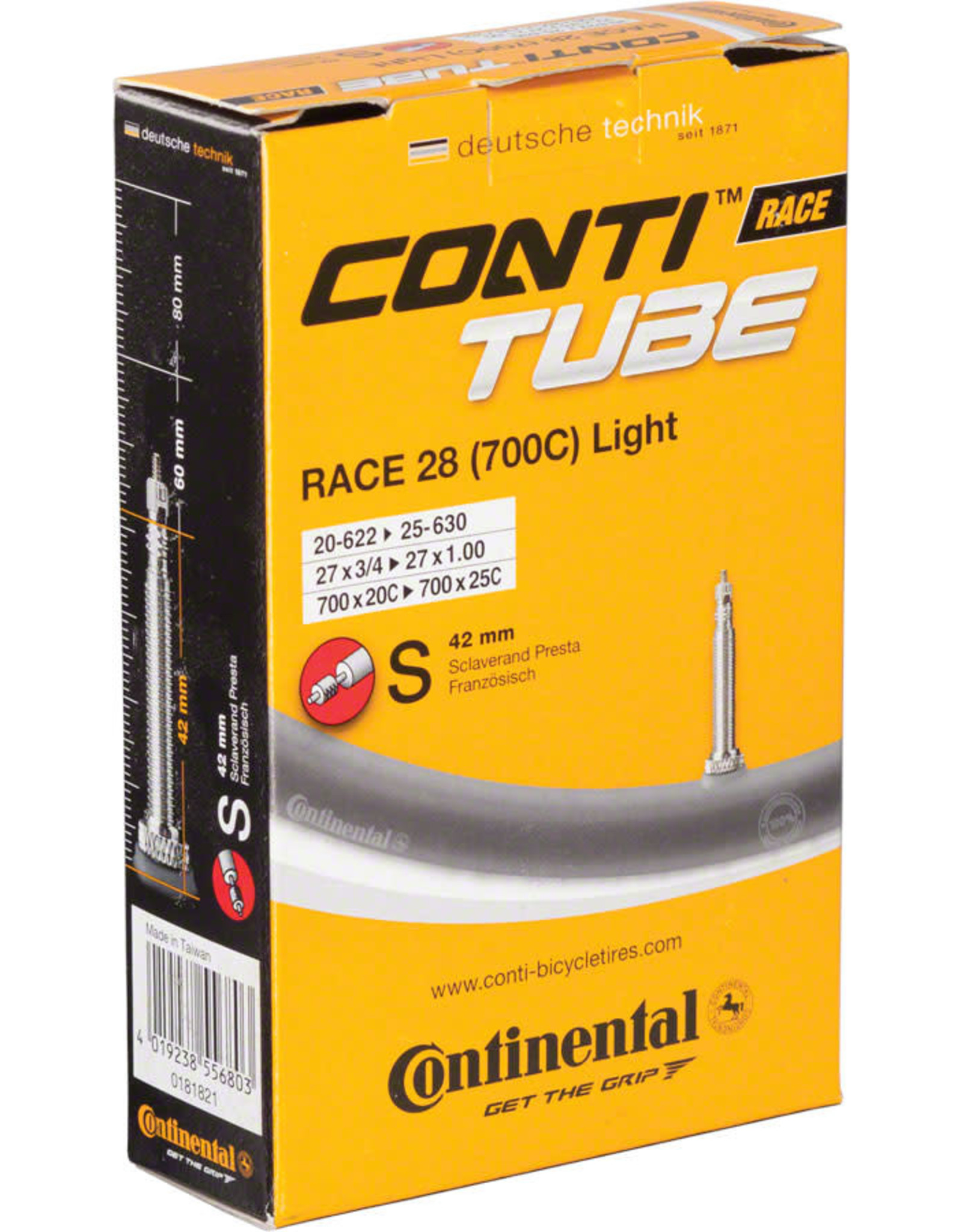 Continental Continental Light 700 x 18-25mm 42mm Presta Valve Tube