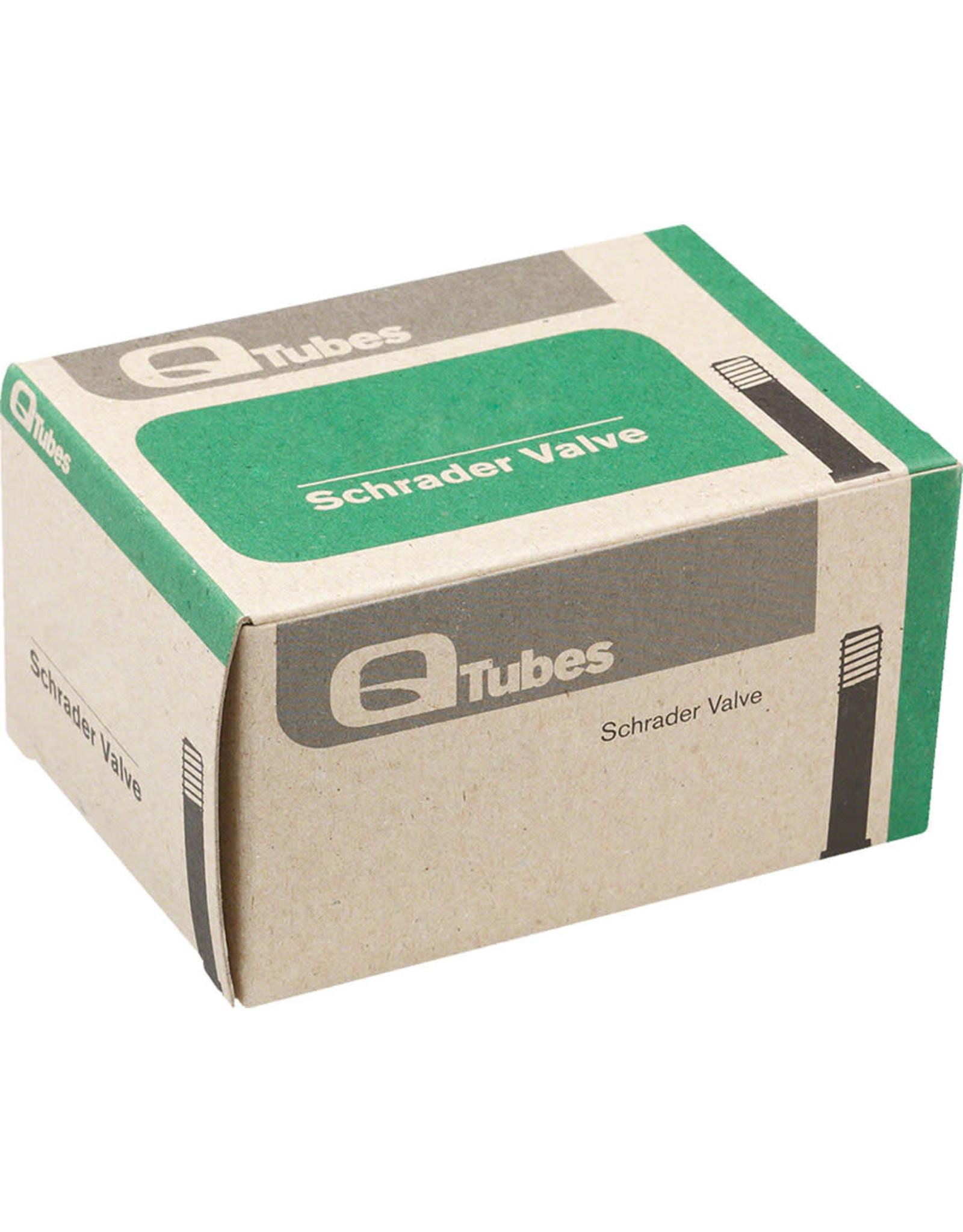 """Q-Tubes Q-Tubes 20"""" x 1.25-1.5"""" Schrader Valve Tube 98g *Low Lead Valve*"""
