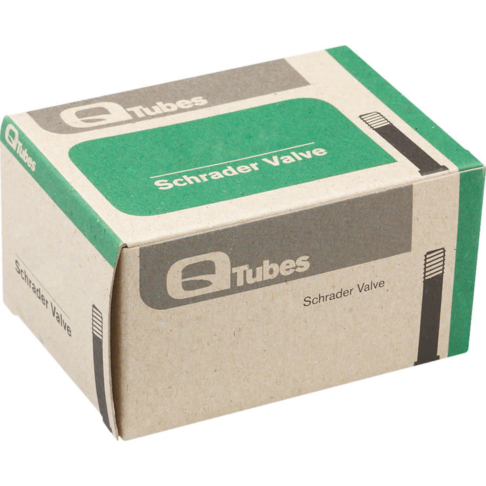 """Q-Tubes Q-Tubes Value Series Tube with Low Lead Schrader Valve: 14"""" x 1.75-2.125"""""""