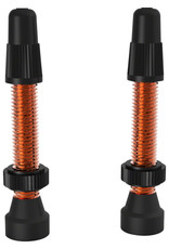 WTB WTB Aluminum TCS Valve: 34mm, Orange, Pair