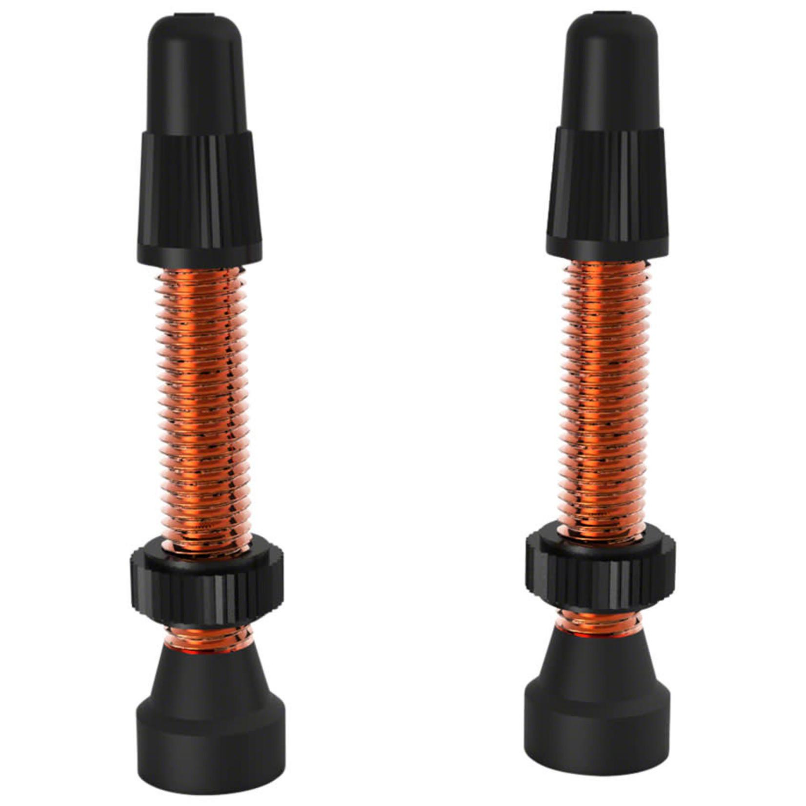 WTB WTB Aluminum TCS Valve: 34mm, Orange, Pair
