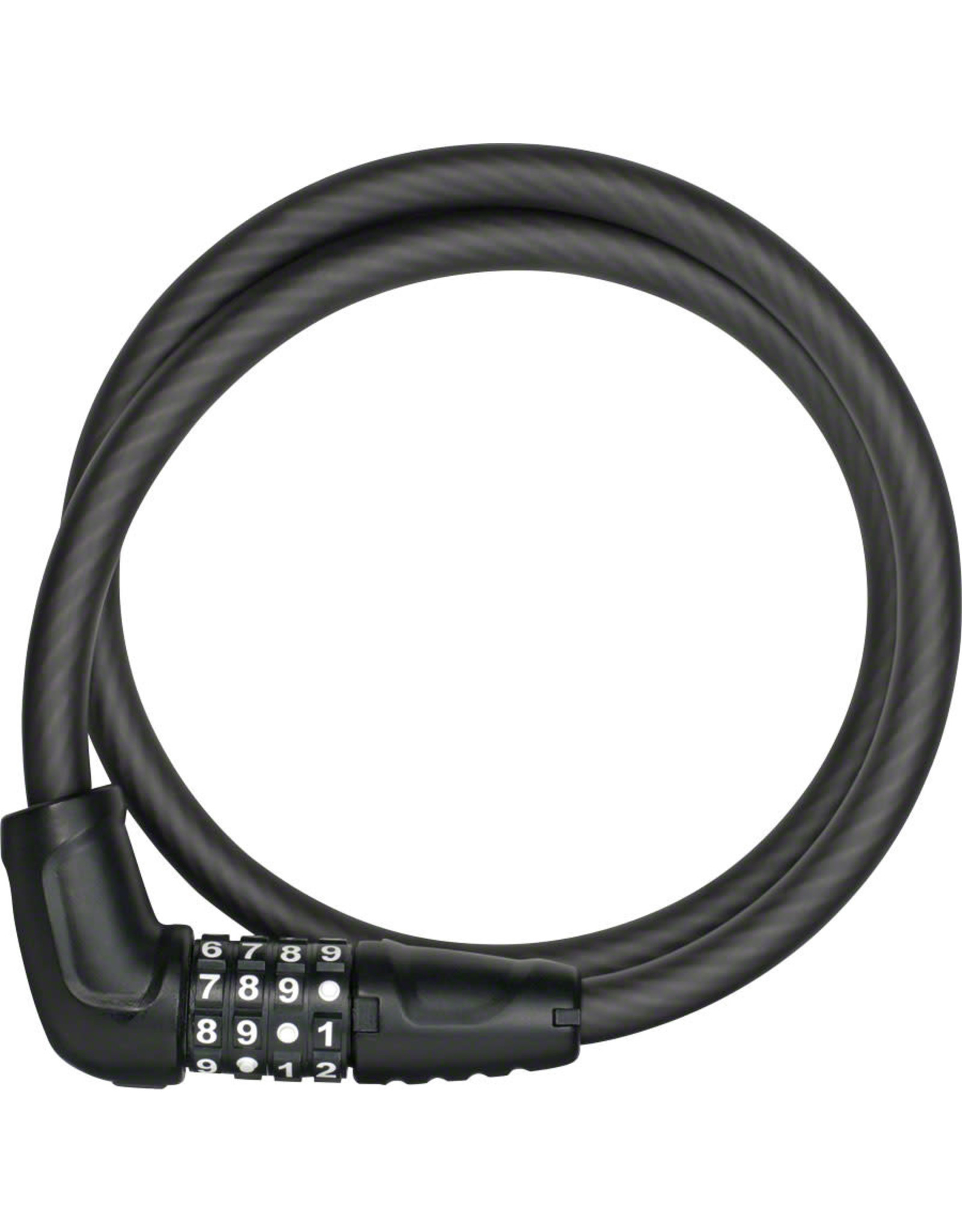 ABUS ABUS Combination Numerino 5412C Cable Lock: 85cm x 12mm, Black