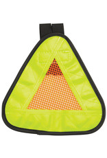 "Aardvark Aardvark Reflective Triangle Yield Symbol 7x7"" with Velcro Strap"