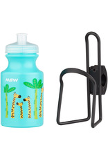 MSW MSW Kids Water Bottle and Cage Kit - Giraffe w/ Black Cage