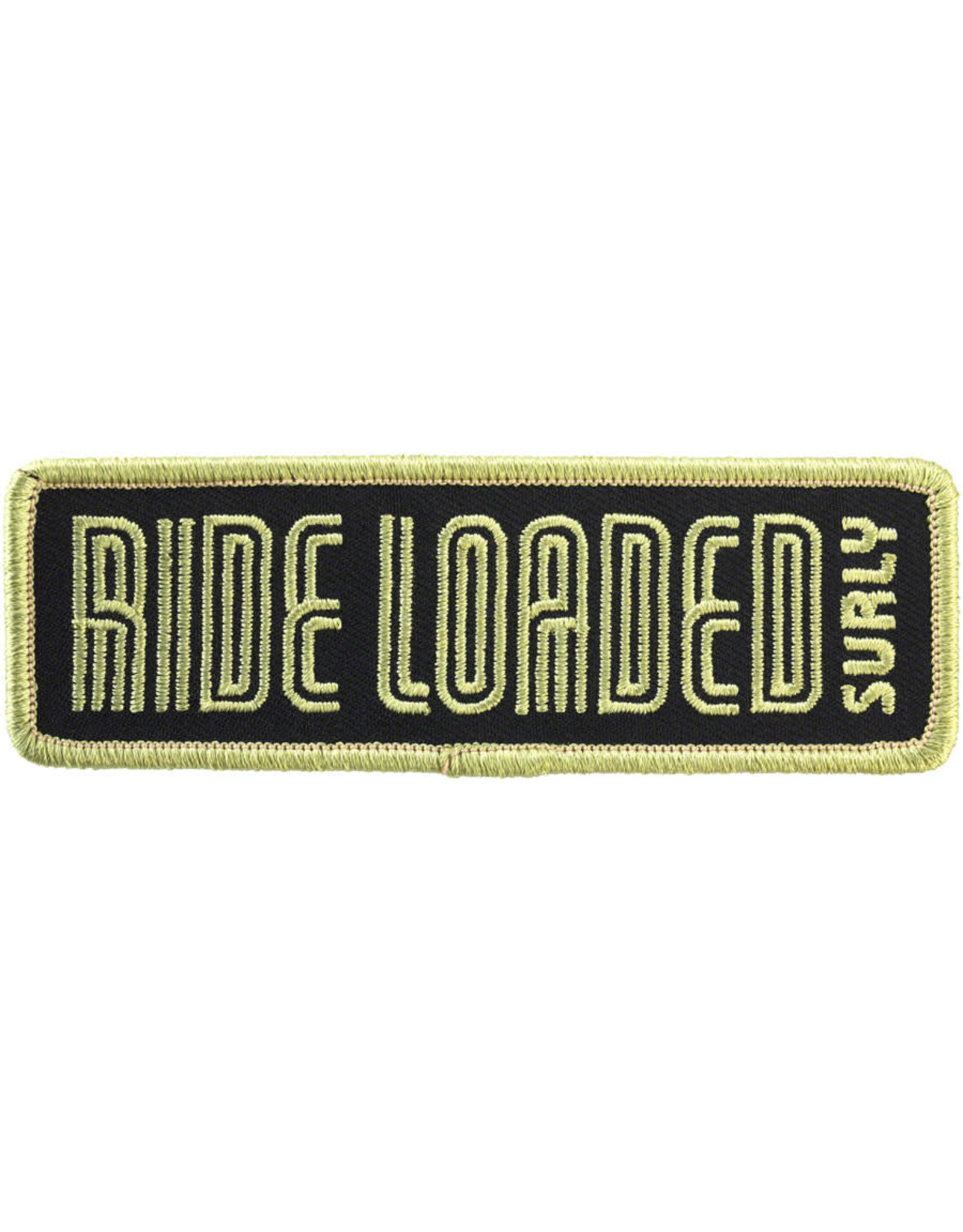 "Surly Surly Ride Loaded Patch: 4.25""x1.38"" Light Army Green/Black"