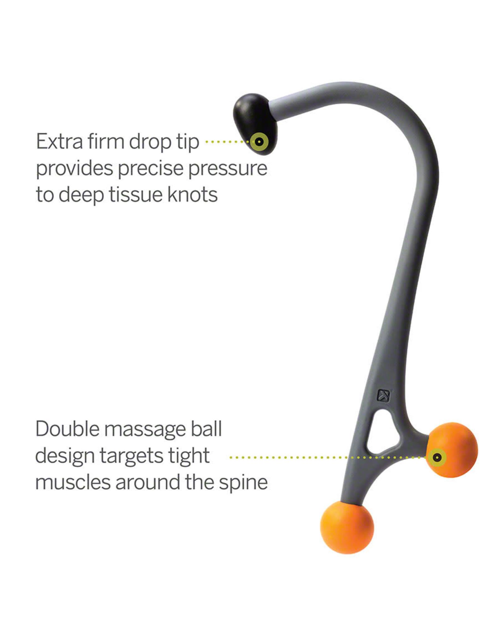 TriggerPoint Trigger Point AcuCurve Cane: Gray/Orange