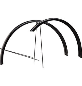 Velo Orange Velo Orange 700c Hammered Alloy Fender Set: Black, 45mm
