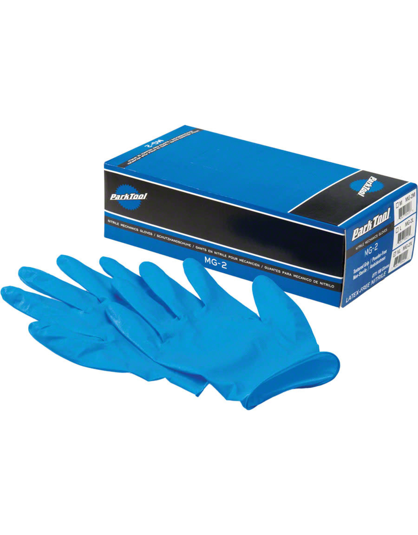Park Tool Park Tool MG-2X Nitrile Mechanic Gloves: Xlarge, Blue