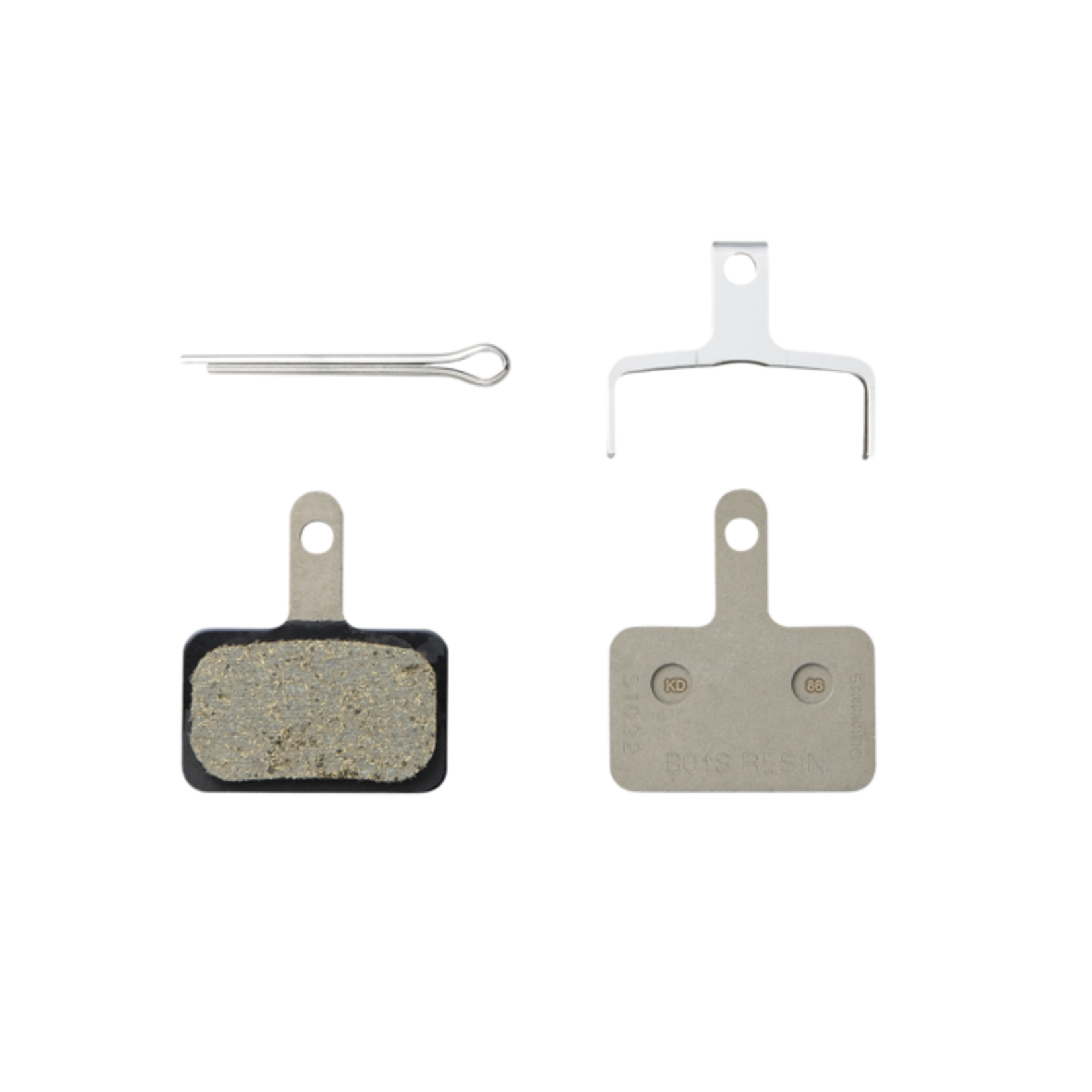 Shimano Shimano B01S Resin Disc Brake Pad and Spring, 4th version of B01S pad, fits many Deore, Alivio and Acera Calipers