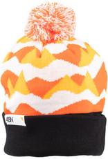 45NRTH 45NRTH Polar Flare Pom Hat - Orange Black White