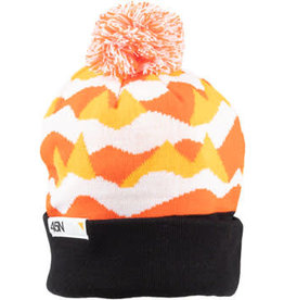 45NRTH 45NRTH Polar Flare Pom Hat - Orange Black White