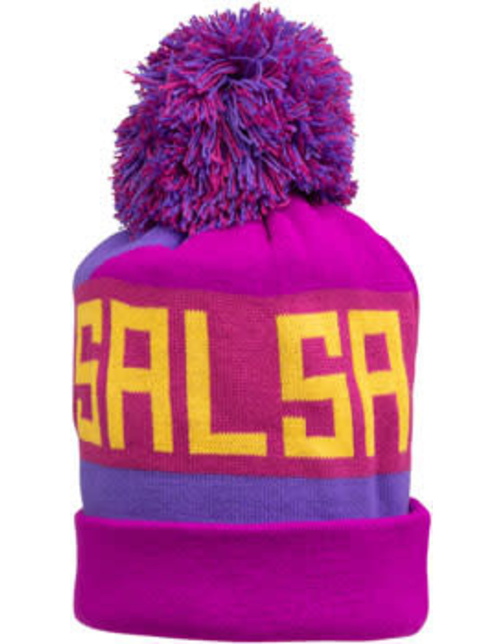 Salsa Salsa Beargrease Pom Beanie - Purple, Magenta, Blue, Yellow, One Size
