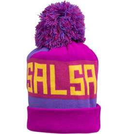 Salsa Salsa Beargrease Pom Beanie - Purple, Magenta, Blue, Yellow, One Size