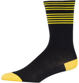 45NRTH 45NRTH Lightweight Sock - Black/Citron Stripe, Large