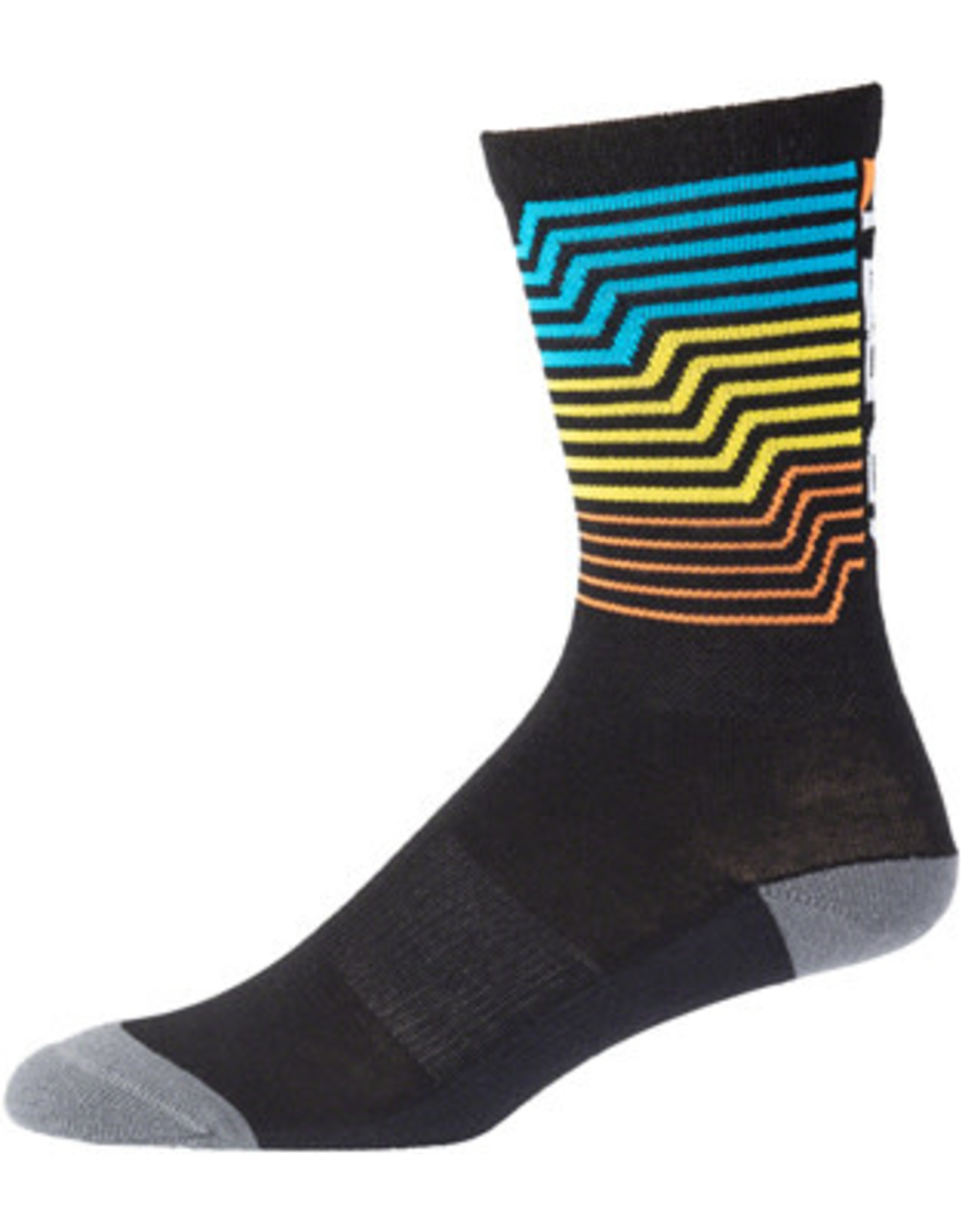 "45NRTH 45N Midweight Electric Rift Sock - 7"", Multi, Small"