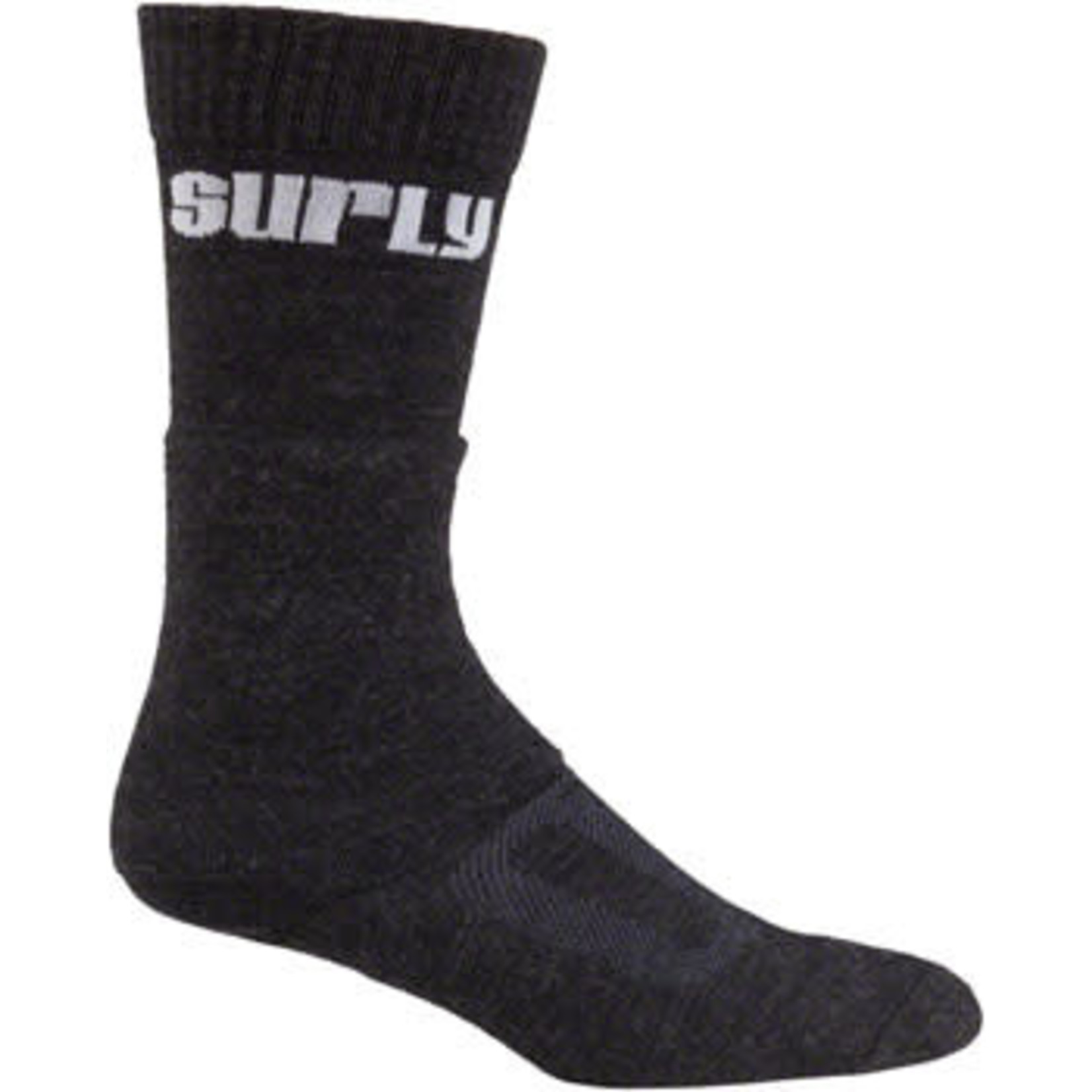 Surly Surly Tall Logo Wool Socks - 8 inch, Black, Large