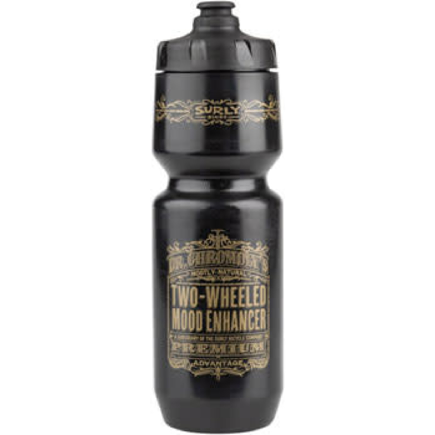 Surly Surly Dr. Chromoly's Elixir Purist Water Bottle - Black, Gold, 26oz