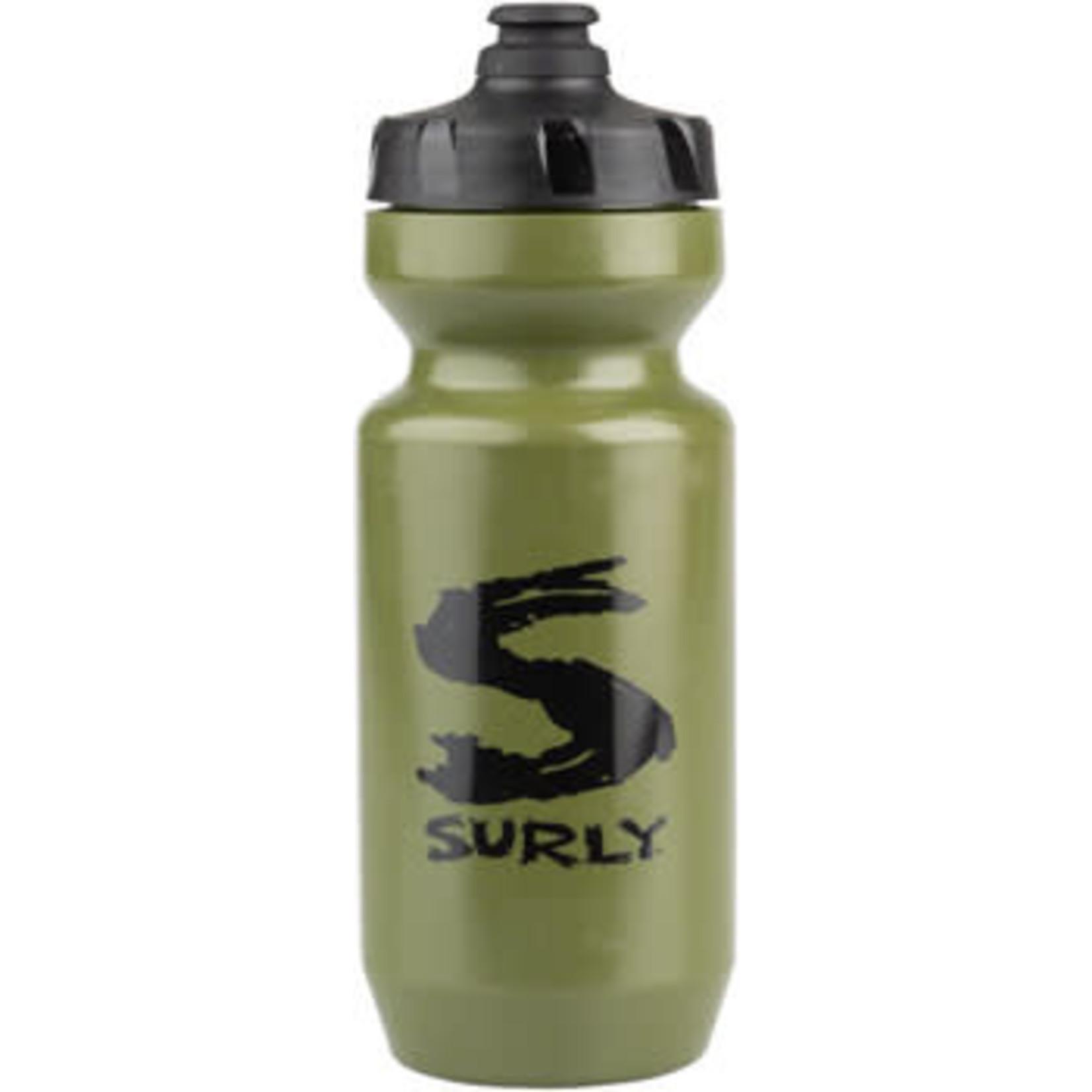 Surly Surly Big S Purist Water Bottle - Green, Black, 22oz