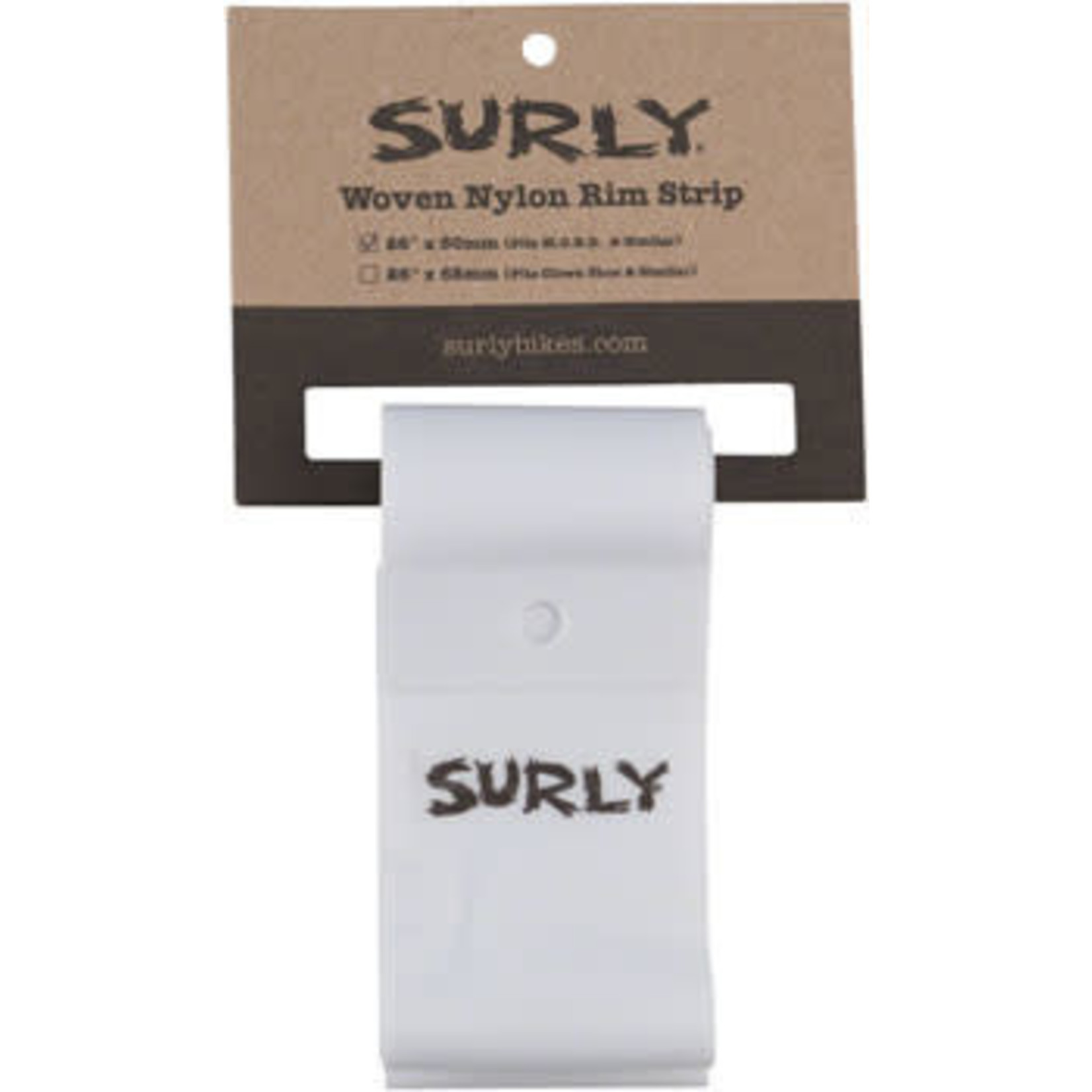 Surly Surly Rim Strip: For Other Brother Darryl Rim, Nylon, 50mm wide, White