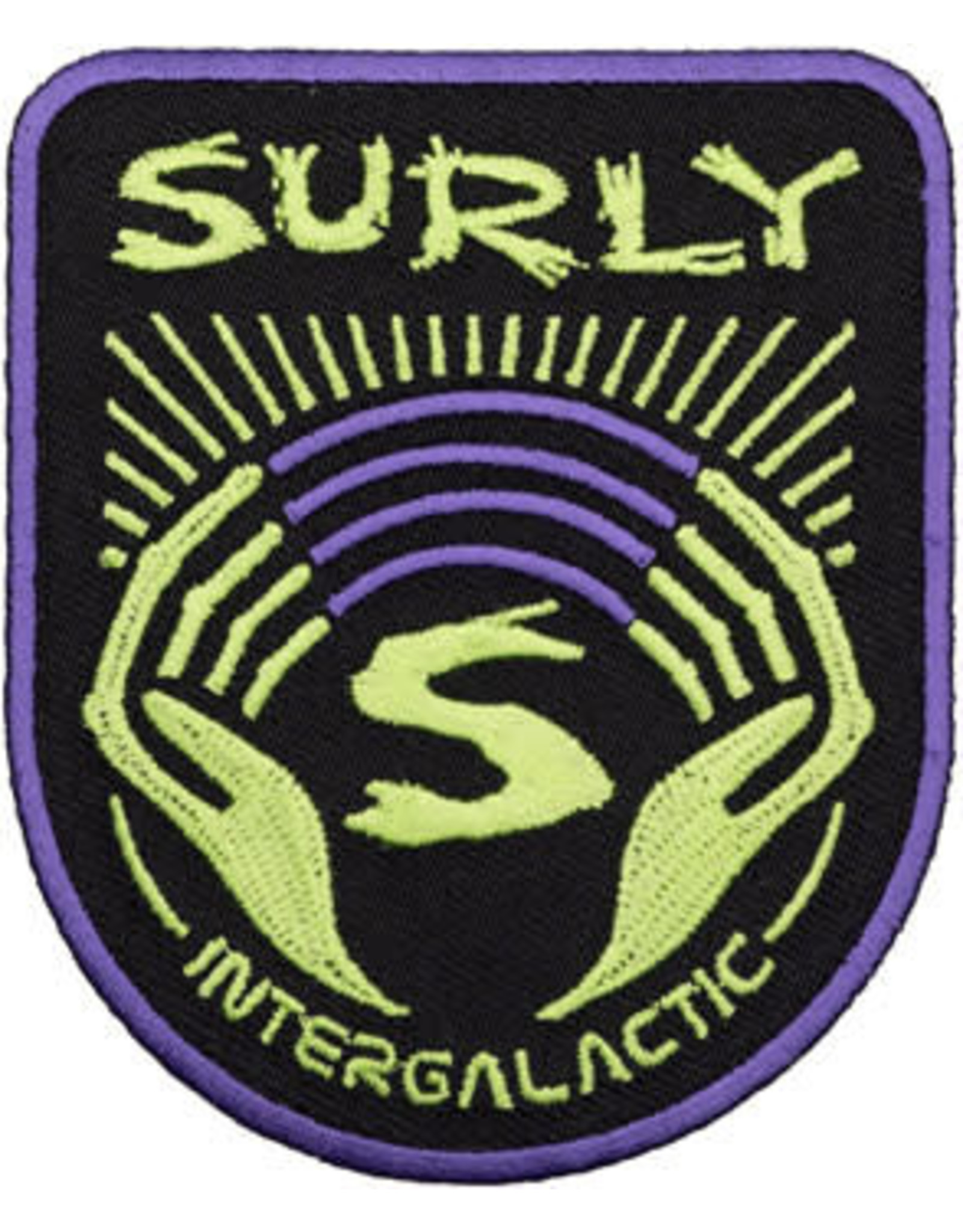Surly Surly Intergalactic Patch: Black/Purple/Green