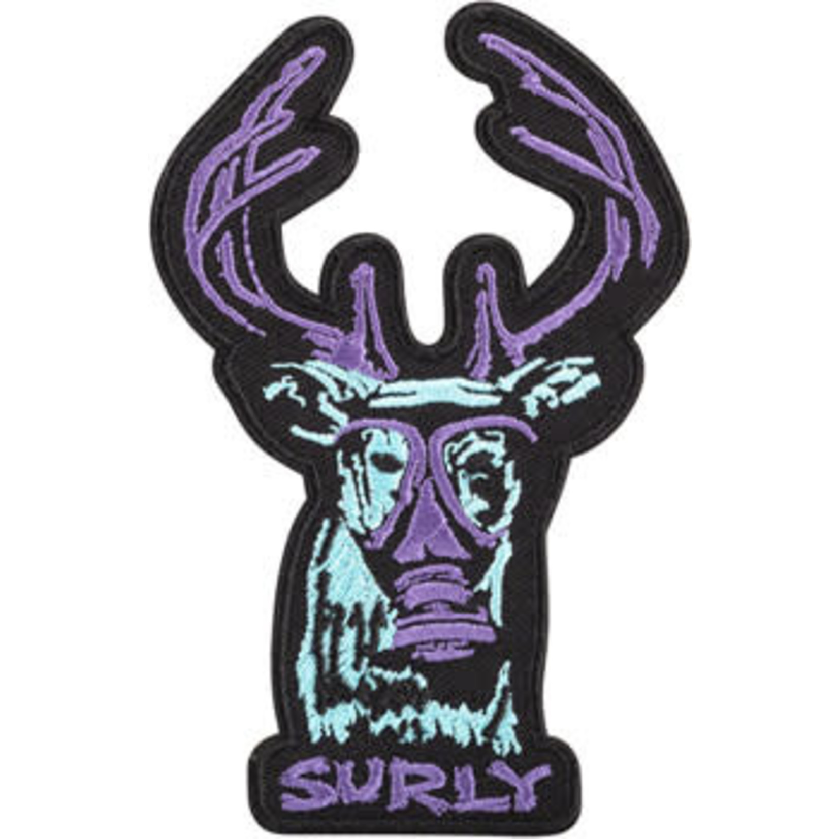 Surly Surly Oh Deer Patch - Black, Blue, Purple, One Size