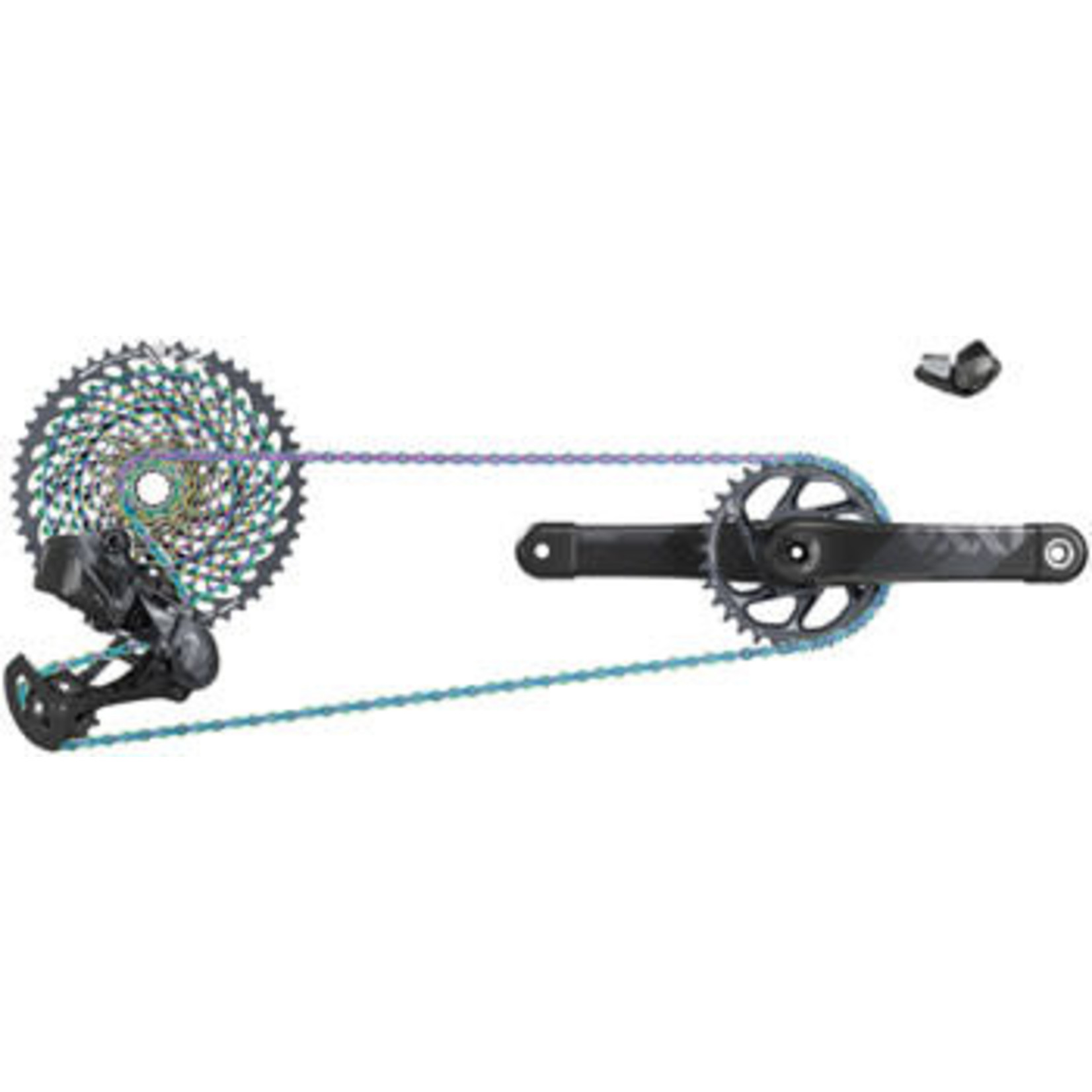 SRAM SRAM XX1 Eagle AXS Electronic Groupset: 175mm Boost 34t DUB Crank, Trigger Shifter, Rear Derailleur, 12 Speed 10-50t Cassette and Chain