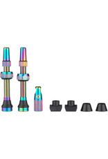 Muc-Off Muc-Off Tubeless Valve Kit - Iridescent, Fits Road and Mountain, 44mm