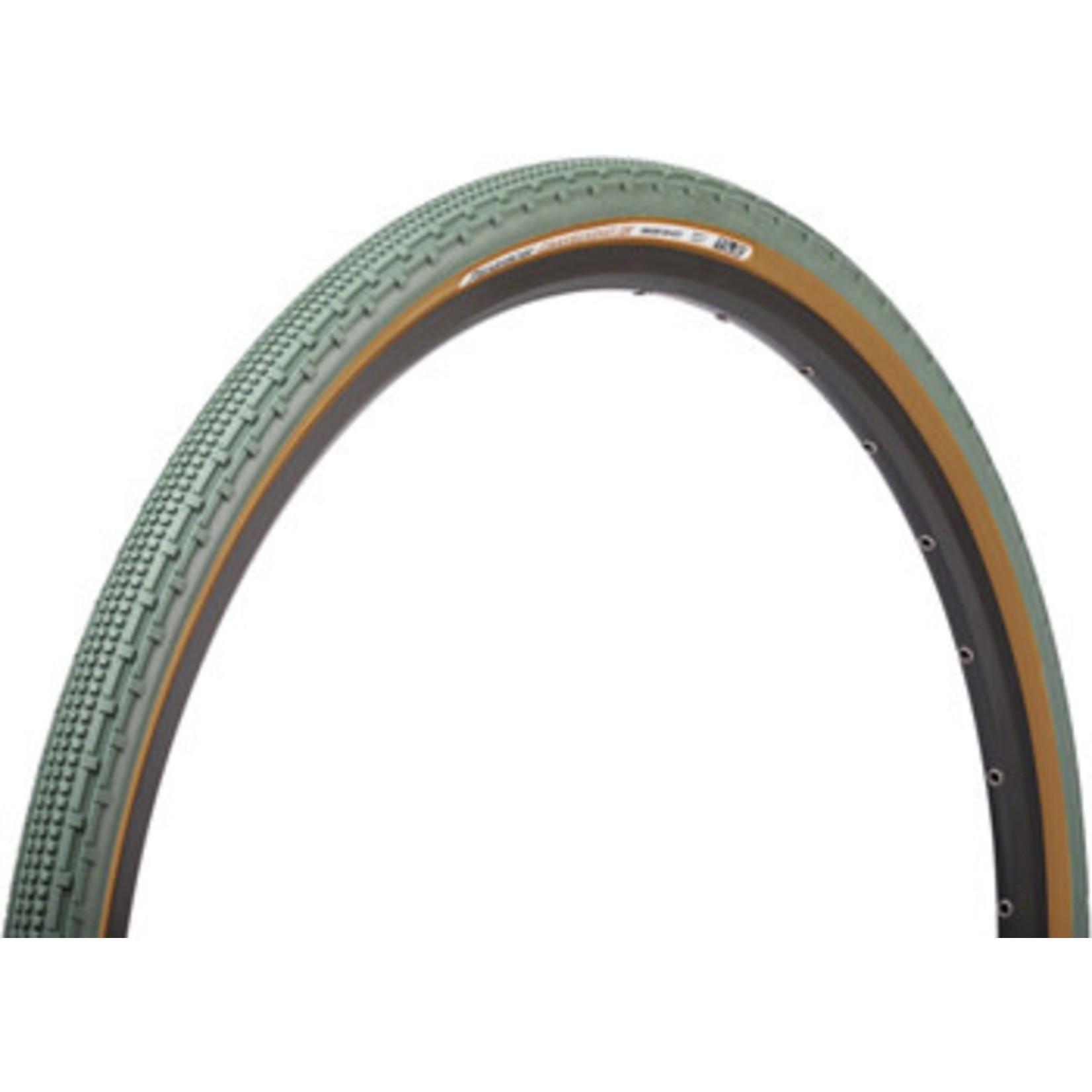 Panaracer Gravelking SK Tire, 700x43c - Olive/Brown  NLA