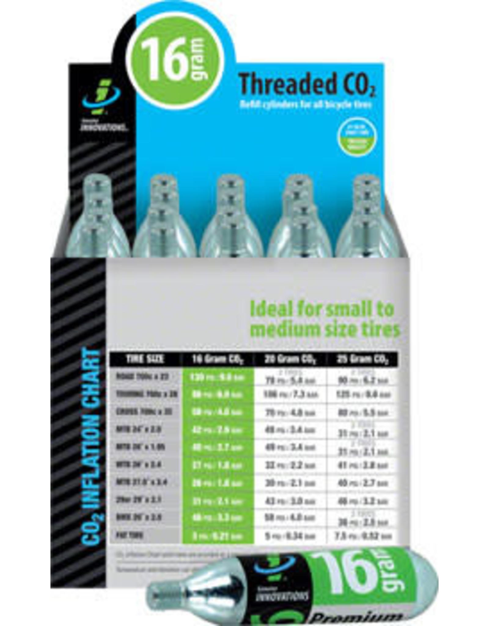 Genuine Innovations Genuine Innovations Cartridge CO2 Threaded 16G single