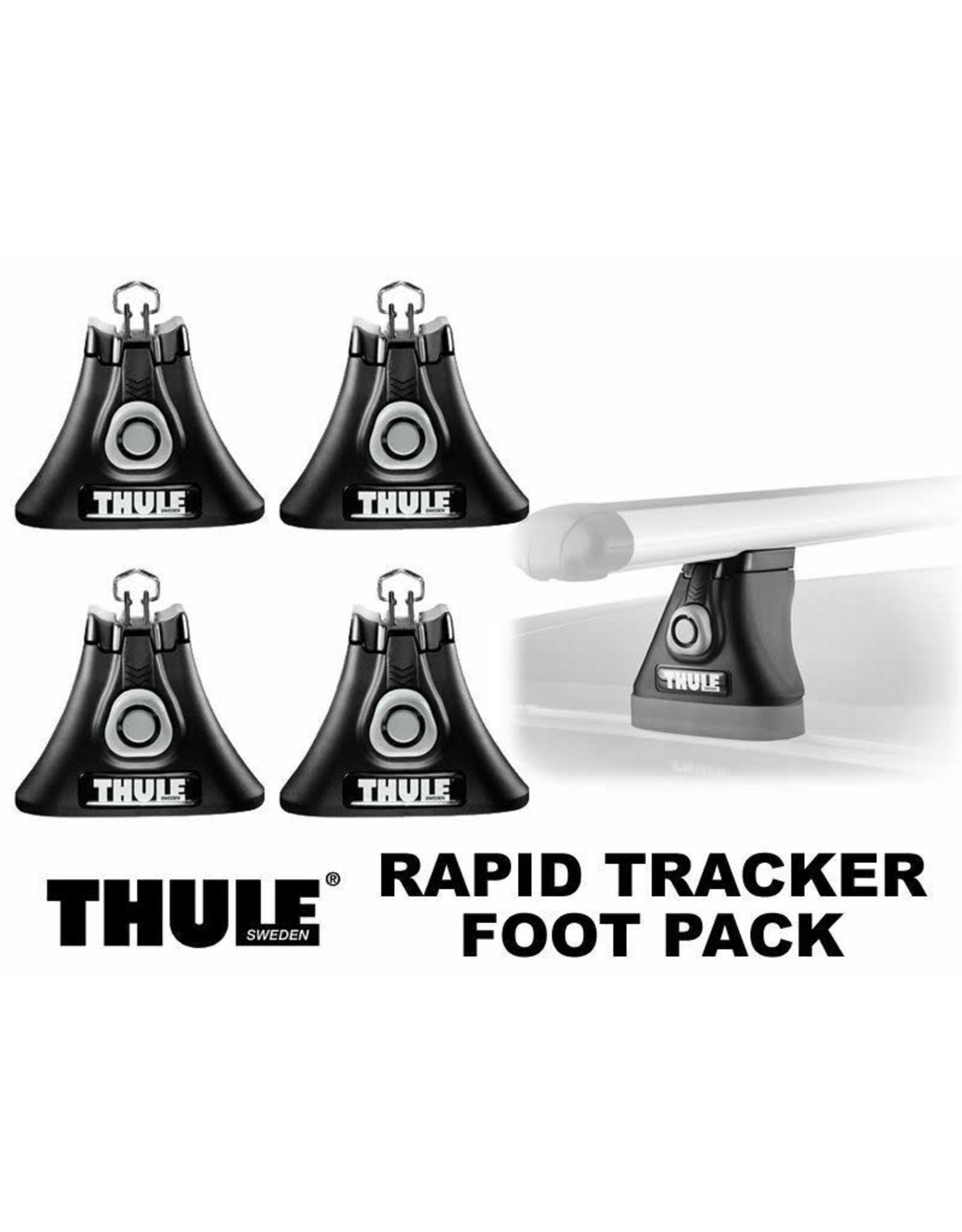 Thule Thule 430 Tracker II Foot Pack Load Bar Tower Set: Fits Rectangular Bar; 4-Pack